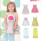 Girls Pattern Toddler 5 Sizes Dress and Pants New Look 6219 Summer Clothes