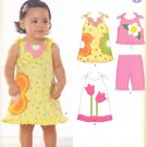Girls Pattern Baby 4 Sizes Dress Top Pants New Look 6793 Summer Clothes