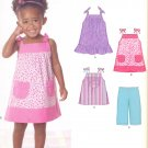 Girls Pattern Toddler 5 Sizes Dress Top Pants New Look 6796 Summer Clothes