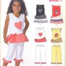 Girls Pattern Childs 6 Sizes Dress Top Pants New Look 6961 Summer Clothes