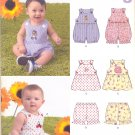 Unisex Pattern Baby 4 Sizes Romper Top Bloomers New Look 6970 Summer Clothes