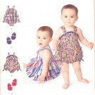 Baby Romper and Shoe Pattern 4 Sizes Simplicity 1037 New Pattern
