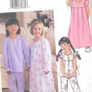 Girls Nightgown Top and Pants Pattern 4 Sizes B3661 New Pattern