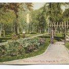 Scene in Island Park Fargo North Dakota Postcard