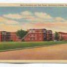 Mens Dormitory and Field House Sgricultural College Fargo North Dakota Postcard