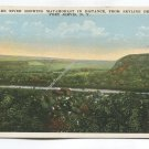 Delaware River showing Matamorast in distance from Skyline Drive Port Jervis New York Postcard