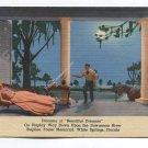 Diorama of Beautiful Dreamer Stephen Foster Memorial White Springs Florida Postcard