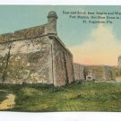 East and South East Angles and Water Battery Fort Marion St Augustine Florida Postcard