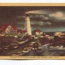 Moonlight on the Portland Headlight Cape Elizabeth Maine Postcard