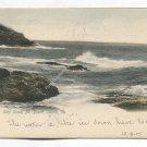 Surf Scene Mt Desert Island Maine Postcard