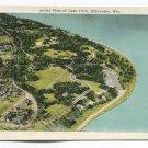 Aerial View of Lake Park Milwaukee Wisconsin Postcard