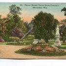Flower Mound Forest Home Cemetery Milwaukee Wisconsin Postcard