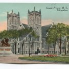 Grand Avenue M E Church Milwaukee Wisconsin Postcard