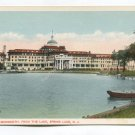 Hotel New Monmouth from the lake Spring Lake New Jersey Postcard