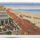 View of Beach and Boardwalk from Marlborough-Blenheim Solarium Atlantic City New Jersey Postcard