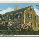 An Old Cape Cod House Cape Cod Massachusetts Postcard