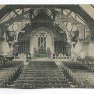 Interior Russell Sage Memorial Chapel Northfield School for Girls Massachusetts Postcard