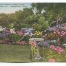 Old Fashioned Flower Garden Williams Inn Williamstown Massachusetts Postcard