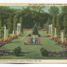 At the International Friendship Gardens Michigan City Indiana Postcard