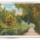 View Along the Canal Indianapolis Indiana Postcard