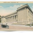Central Library Indianapolis Indiana Postcard
