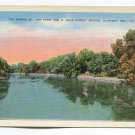 Scenic St Joe from the N Main Street Bridge Elkhart Indiana Postcard