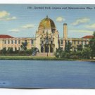 Garfield Park Lagoon and Administration Building Chicago Illinois Postcard