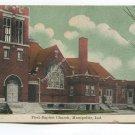First Baptist Church Montpelier Indiana Postcard