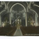Interior Saint Anns Church Youngstown Ohio Postcard