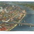 Ohio River and The Four Bridges Cincinnati Ohio Postcard