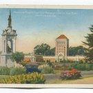 Monument and Francis Scott Key Monument Golden Gate Park San Francisco California Postcard