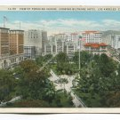 View of Pershing Square showing Biltmore Hotel Los Angeles California Postcard