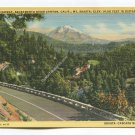 Pacific Highway Sacramento River Canyon California Mt Shasta in distance Postcard