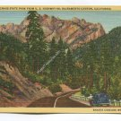 Castle Crag State Park from US Highway 99 Sacramento Canyon California Postcard