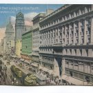 Market Street looking East from Fourth San Francisco California Postcard