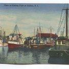 View of Fishing Fleet at Galilee Rhode Island Postcard