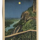 Moonlight over Lake Lure from Inspiration Point Chimney Rock Mountain Western NC Postcard