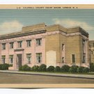 Caldwell County Court House Lenoir North Carolina Postcard