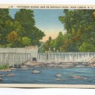 Patterson School Dam on Buffalo Creek near Lenoir North Carolina Postcard
