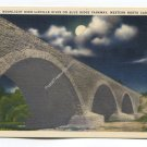 Moonlight over Linville River on Blue Ridge Parkway Western North Carolina Postcard