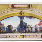 Mural Painting in Union Station Utah Postcard