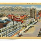 Main Street Salt Lake City Utah Postcard