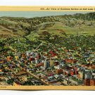 Air View of Business Section of Salt Lake City Utah Postcard