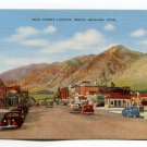 Main Street looking North Brigham Utah Postcard