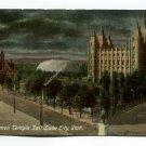 Mormon Temple Salt Lake City Utah Postcard