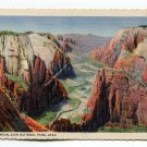 Zion Canyon Zion National Park Utah Postcard