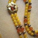 #NE402 - Lemon drop Tassle Necklace and Earring Set