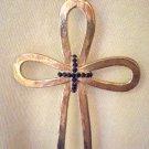 #NM104 - Bold Goldtone Cross Necklace for Men