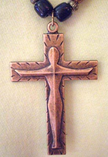 #NM105 - Art Deco Cross Necklace for Men