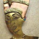 #P002 - Brass and Copper Nefertiti Pin for Women